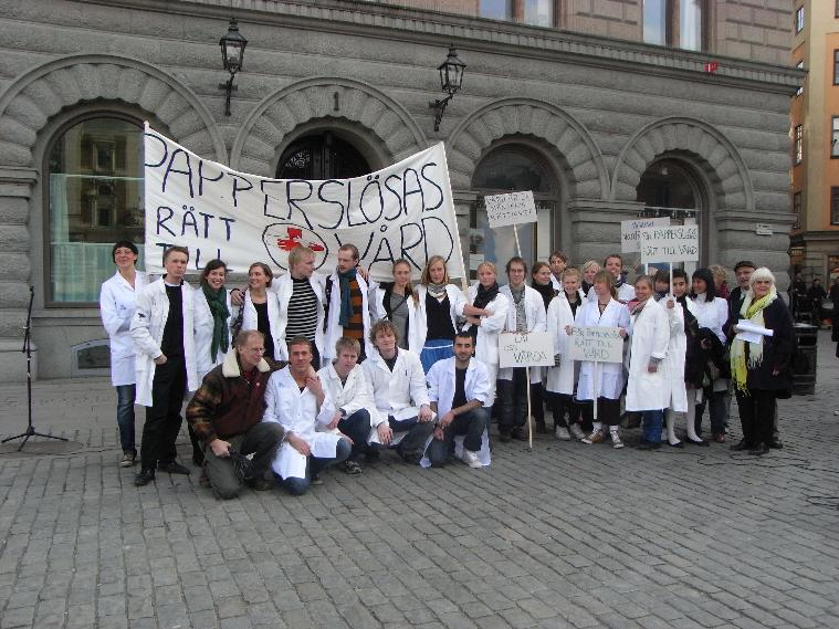Demonstration i Stockholm 2008
