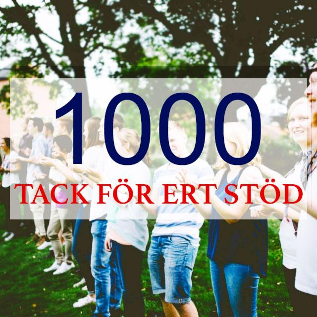 1000 Likes på Facebook
