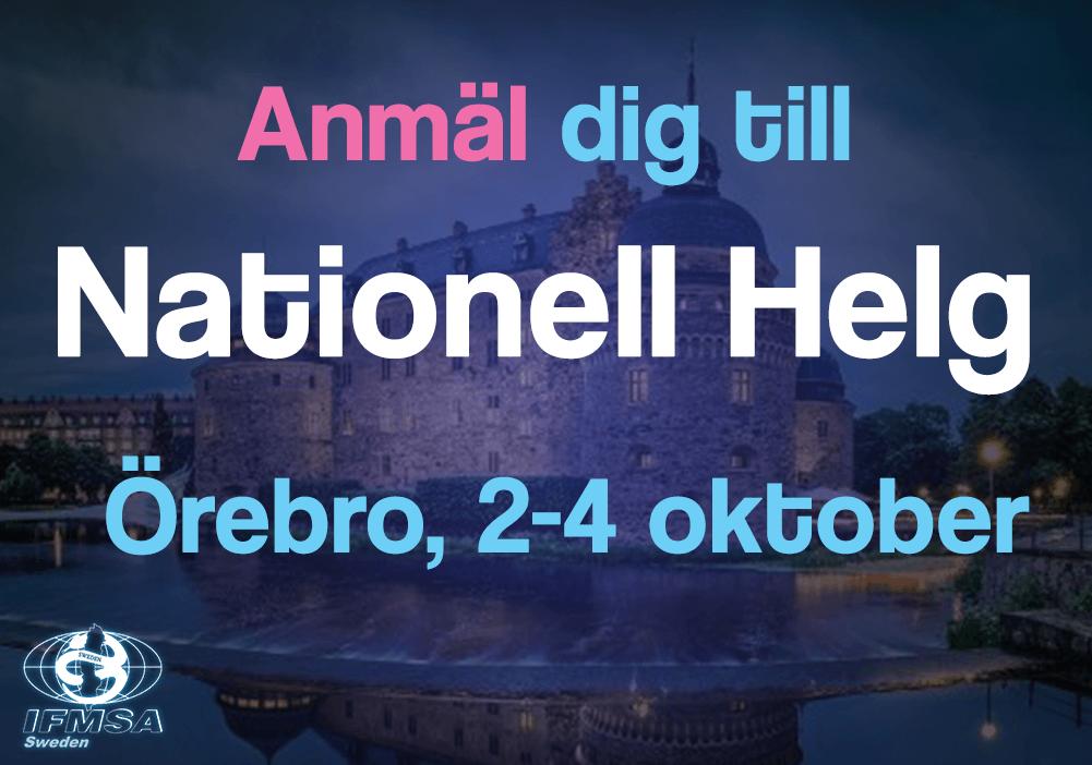 Anmäl dig till Nationella Helgen i Örebro