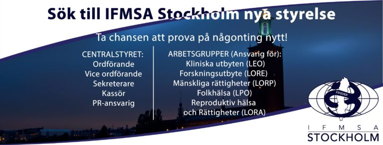 Utlysning till fyllnadsval IFMSA-Stockholm