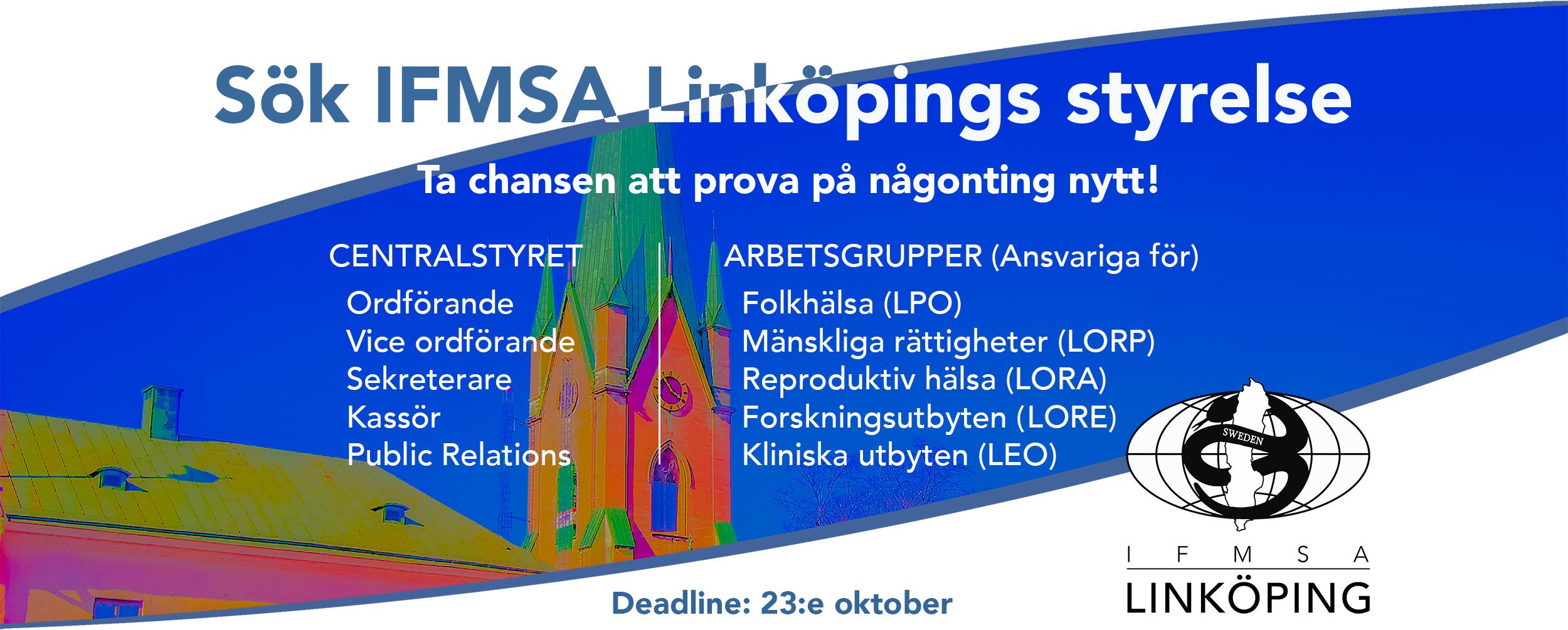 Sök IFMSA Linköpings styrelse