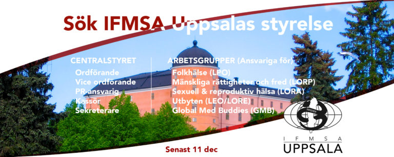 Sök IFMSA Uppsala styrelse