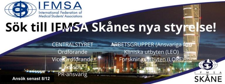 Sök till IFMSA Skånes nya styrelse