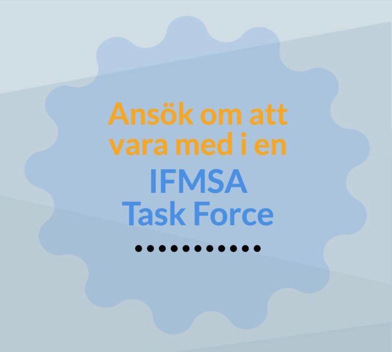Ansök om att vara med i en IFMSA Task Force