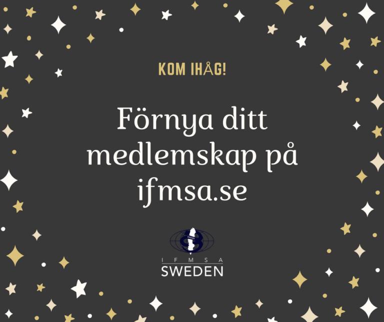 Förnya ert medlemskap hos IFMSA-Sweden