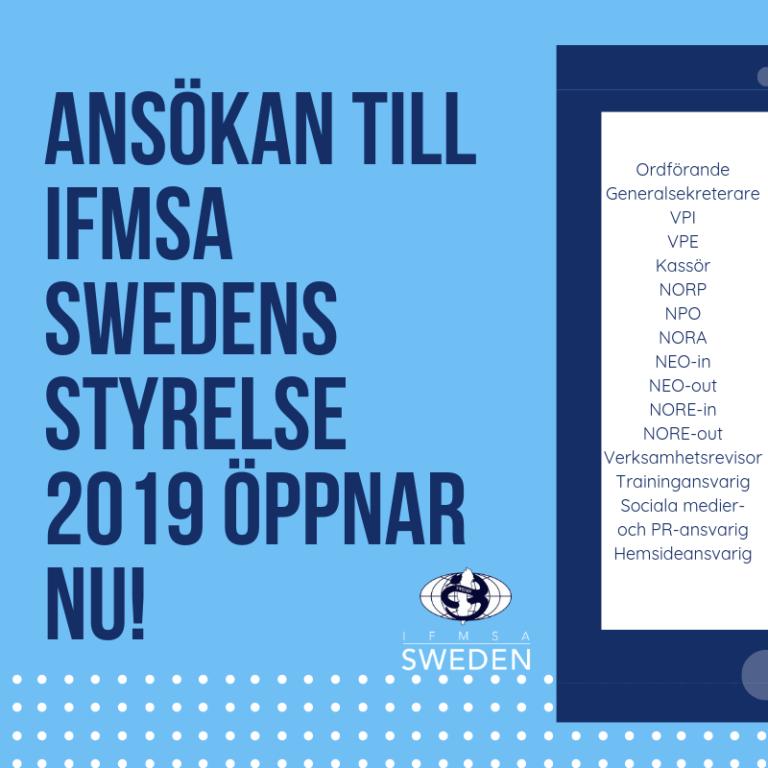 Ansökan för nationella styrelsen 2019 är nu öppen!
