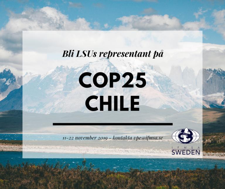 Bli LSUs ungdomsrepresentant till COP25