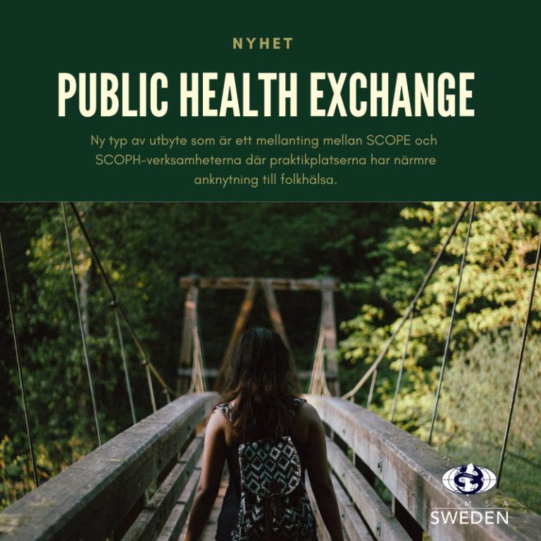 Ansökan öppen för folkhälsoutbyte